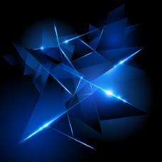 创意3D发光三角形背景