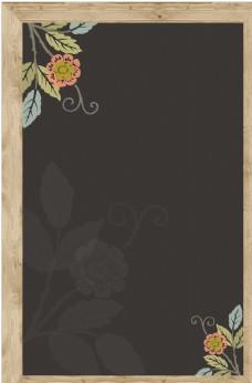黑板实木框架海报背景模板