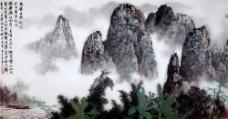 自然风景国画图片