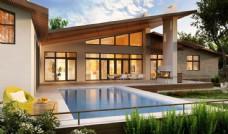 别墅游泳池景观设计图片