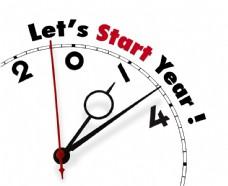 新年钟表指针图片