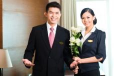 宾馆服务人员图片