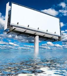 水里的户外广告图片