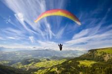 挑战高空降落伞图片
