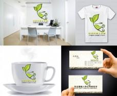 绿荼 荼饮logo