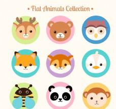 卡通动物 动物头像