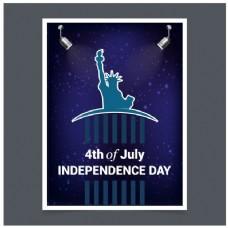 美国独立日派对时尚请柬