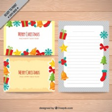 带饰品的圣诞贺卡