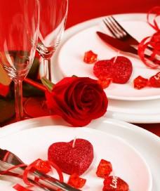 情人节餐饮宣传背景图片