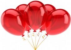 红色气球摄影图片