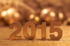 金色立体2015字体图片
