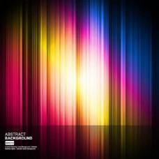 彩色发光背景线