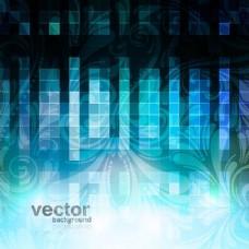 植物区系的格子玻璃荧光背景