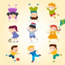 快乐的儿童孩子插图