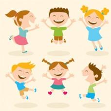 快乐的孩子儿童插图