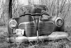 黑白复古汽车