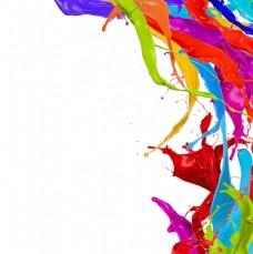 油漆颜料背景图片