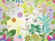 时髦的花园五颜六色的背景