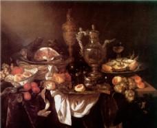 油画果蔬厨房一角装饰画