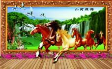 骏马装饰背景图
