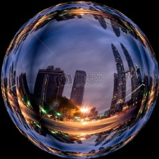 在蓝水晶球建筑形象