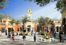 商业步行街建筑设计图片
