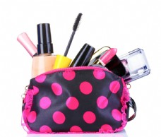 化妆包里的彩妆化妆品图片