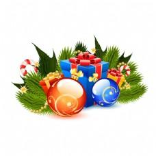 松枝与圣诞球图片