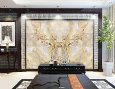 大理石欧式时尚背景墙设计