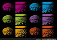 多种颜色的色调设计