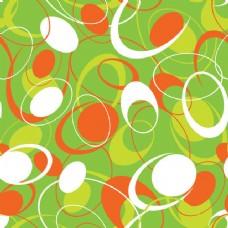 无缝抽象扁平圆形图案