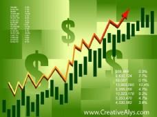 绿色金融股票图表背景