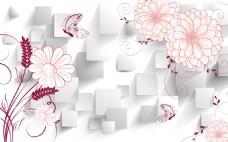 花卉背景装饰画