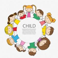 卡通儿童孩子标签