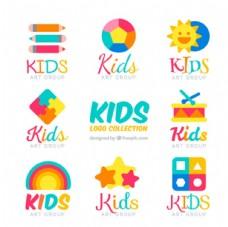 丰富多彩的儿童孩子标志