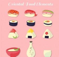 12款创意日本料理矢量素材