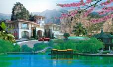别墅景观园林设计图片