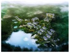建筑规划设计鸟瞰效果图片
