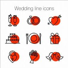 结婚线图标