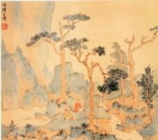 树木山峰风景图片