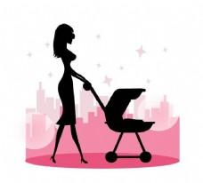 Baby Stroller走,妈妈