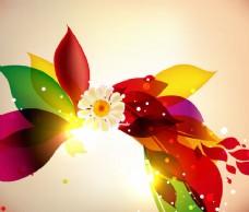 缤纷花卉花盛开的图形