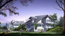 别墅小区园林景观图片