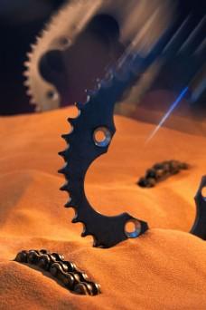 工业生产沙与齿轮图片