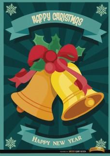圣诞铃铛条纹壁纸