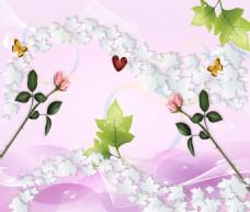 抽象花卉背景墙