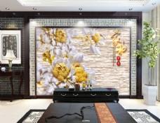 花卉装饰墙壁背景墙