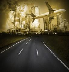城市风光创意图片