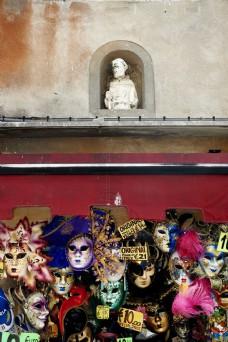 威尼斯面具摄影素材图片