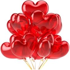 红色爱心气球图片